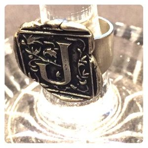 Jewelry - Sterling J stamp ring