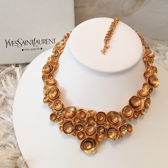 f36425a3478 Yves Saint Laurent Jewelry | Rare Ysl Ary Flower Necklace | Poshmark