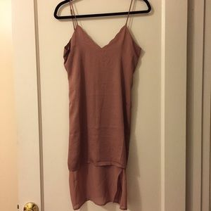 New Tularosa Scalloped Lined Slip Dress
