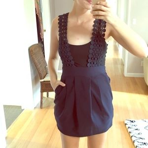 Vintage Crochet Suspender Dress - Small