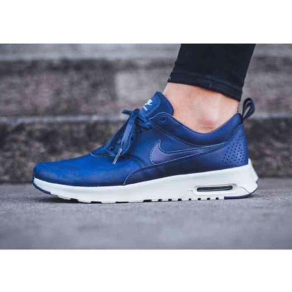 Sneakers Max Blue Leather Nike ShoesAir Premium Thea Poshmark I76yfYgvb