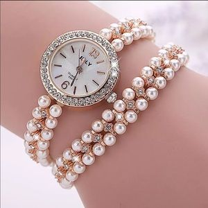 Rose Gold Double Wrap Chain Watch