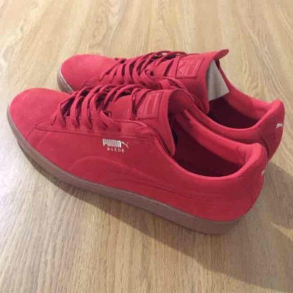 42d1e1ade3000d Red Puma Suede w  Gum Bottom. M 573ead2b680278030f00d8f0