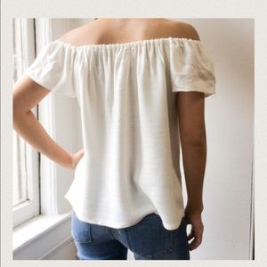 Atid Clothing Tops - White off the shoulder blouse