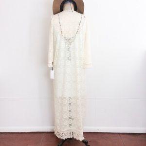 Atid Clothing Other - ivory lace robe kimono