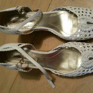 Via spiga white espadrille sandal