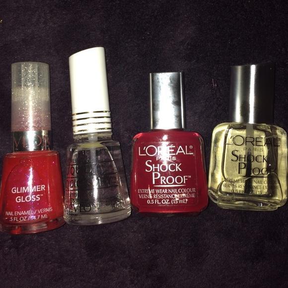 LOREAL Makeup | And Revlon Nail Polish Bundle Set | Poshmark