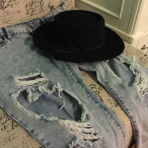 Destroyed Light Denim Skinny Jeans