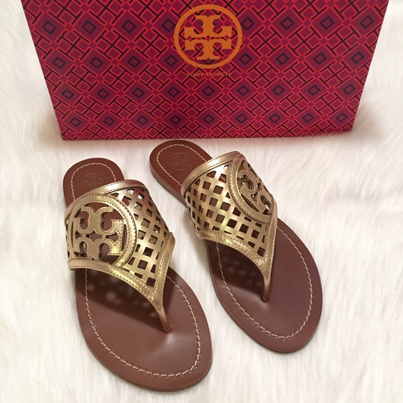 68d7faca169b 🎉HP NEW Tory Burch Thatched Perforated Sandals!