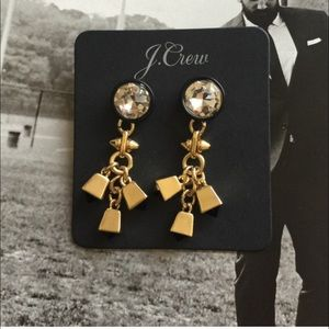 J.crew Edgy Earrings, NWT