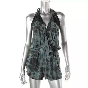 Elan Pants - NWT💠Elan Gray Tie-Dye Halter Romper