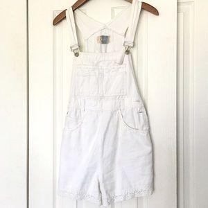 Other - White denim overalls