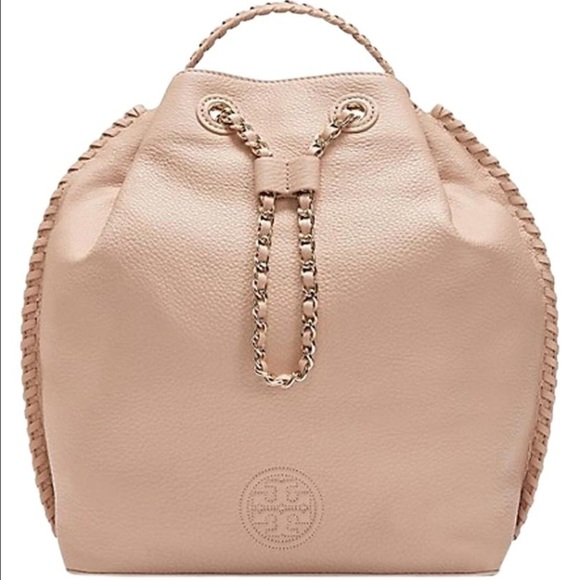 ac937d465bf9 NWT Tory Burch Marion Bucket Backpack Light Oak