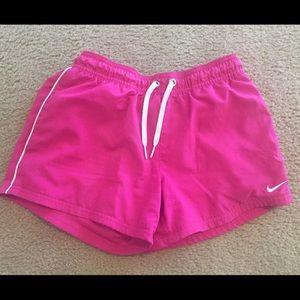Hot Pink Nike Athletic Shorts