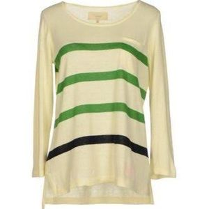 Trovata Tops - Ivory striped Trovata sweater