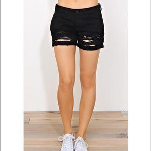 Black distress Jean shorts ONE HOUR SALE