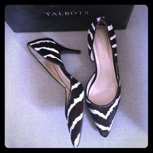 Pony hair zebra d'orsay pumps