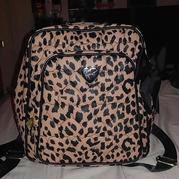 Betsey Johnson Cheetah Print Backpack