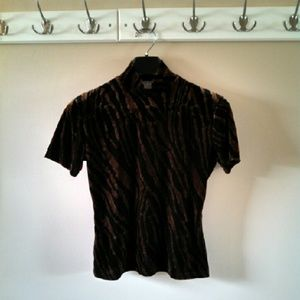Sale! Vintage 1990s Soft Animal Print Top