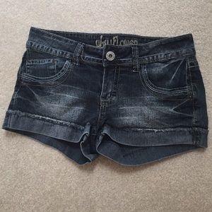Wallflower Pants - Denim short shorts