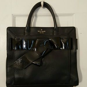 Kate spade leather and patent leather bow bag