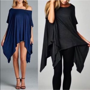 The TANNER asym tunic top - 2 colors