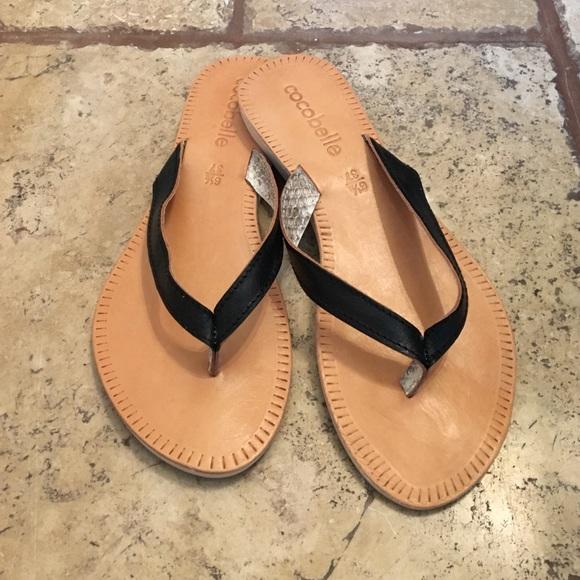 ce3e16442bd397 Cocobelle Asli Black Thong Sandal