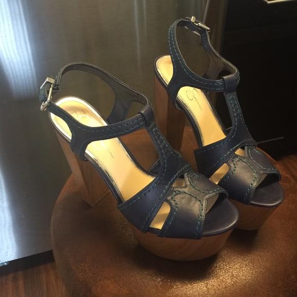 87a7b73de668 Jessica Simpson Shoes - Jessica Simpson Wenda platform sandals-BLUE