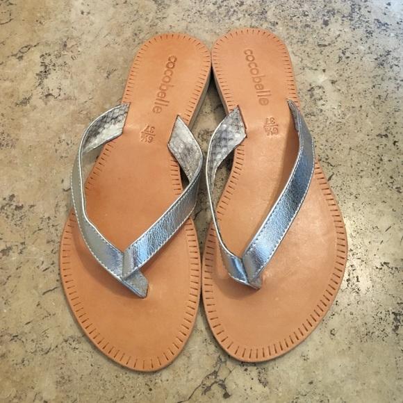 ae76e217c29410 Cocobelle Asli Silver Thong Sandal