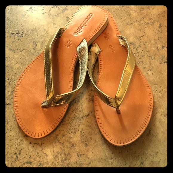 cc42e177b4cc56 Cocobelle Asli Gold Thong Sandal