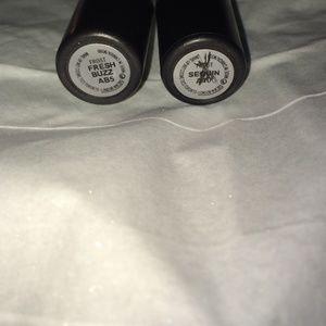 2 MAC Lipsticks in Fresh Buzz and Sequin Shades