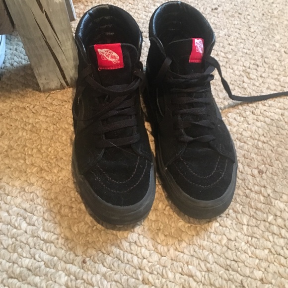 all black high top vans