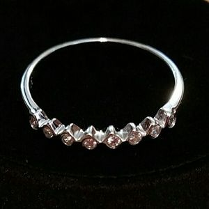 Alicia Jean Fairy Lights CZ sterling ring
