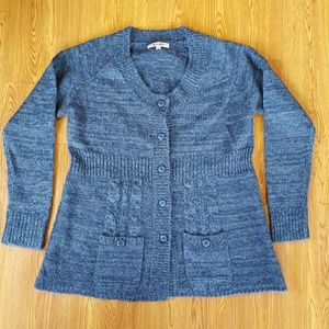 Joe Browns Sweaters - Joe Browns Blue Button Down Sweater 16/18