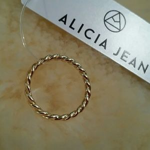 Alicia Jean Jewelry - ✨LAST✨ Size 6 Yellow Gold .925 sterling rope ring