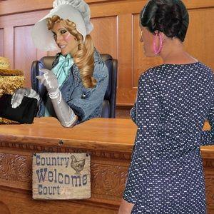 "Accessories - ""Country Courtroom"" Pink Hoop Earrings"
