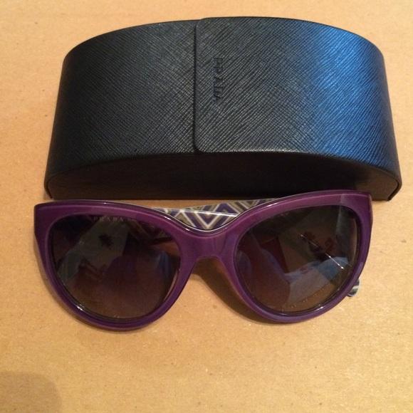 fe76d170c7bf Prada Cat Eye Sunglasses Purple SPR 05P Never Worn.  M_573f7b405a49d0508600b9f1