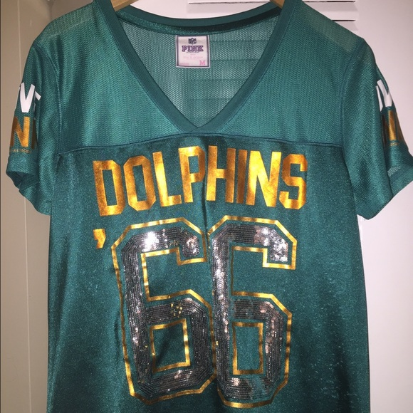 official photos 55018 61633 Victoria's Secret PINK Miami Dolphins bling jersey