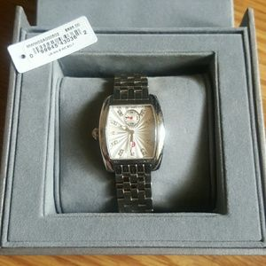 Michele Deco Silver and Bling Watch