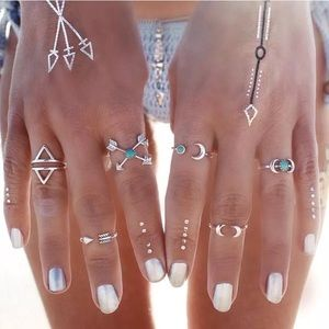 6pc Midi Knuckle Rings