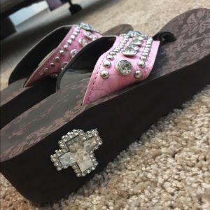 Sam moon Shoes   Pink And Rhinestone