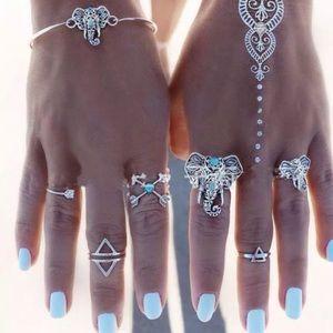 Jewelry - 💕Elephant silver tone bangle💕
