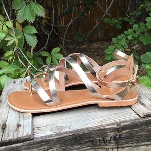 925168b5912cd Topshop Shoes - 🌞NEW Hercules strappy metallic leather sandals🌞