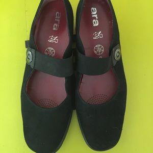 ara Shoes - Black nubuck wedges EU42