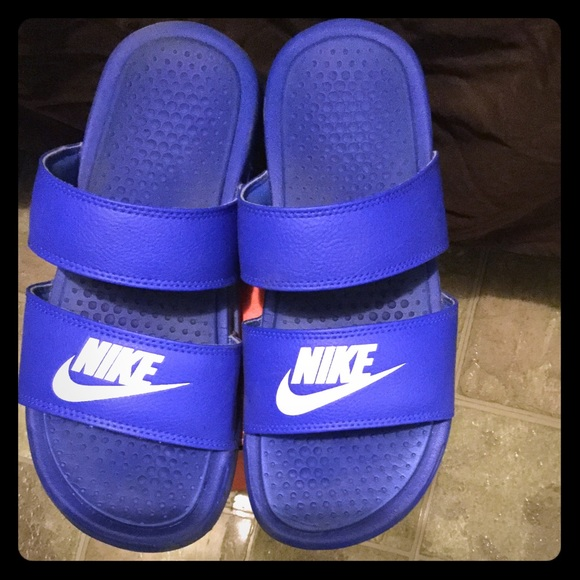 bb5936755c57 nike benassi duo ultra slide blue