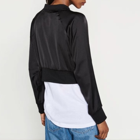49% off Zara Jackets & Blazers - Zara W&B short bomber jacket from ...