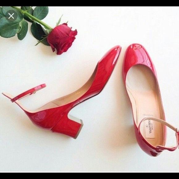e584fb1a94793 Valentino Shoes | Tango Red Patent Leather Pump | Poshmark