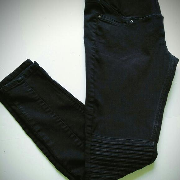 dc249d5ffa563 H&M Jeans   Hm Black Maternity Bikermoto Skinny   Poshmark