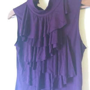 Tops - Purple ruffle top