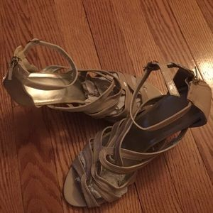 Beige/nude ankle strap sandals